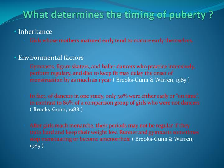 What determines the timing of puberty ?