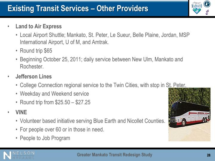 Existing Transit Services – Other Providers