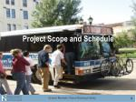 project scope and schedule