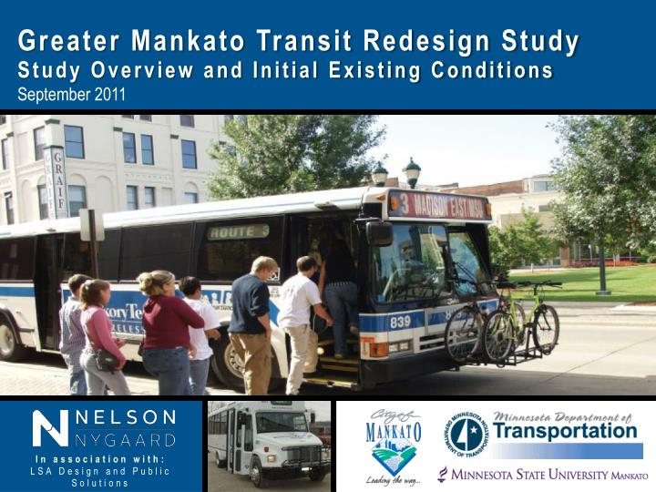 Greater Mankato Transit Redesign Study
