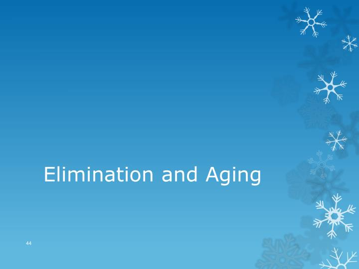 Elimination and Aging
