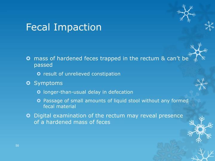 Fecal Impaction
