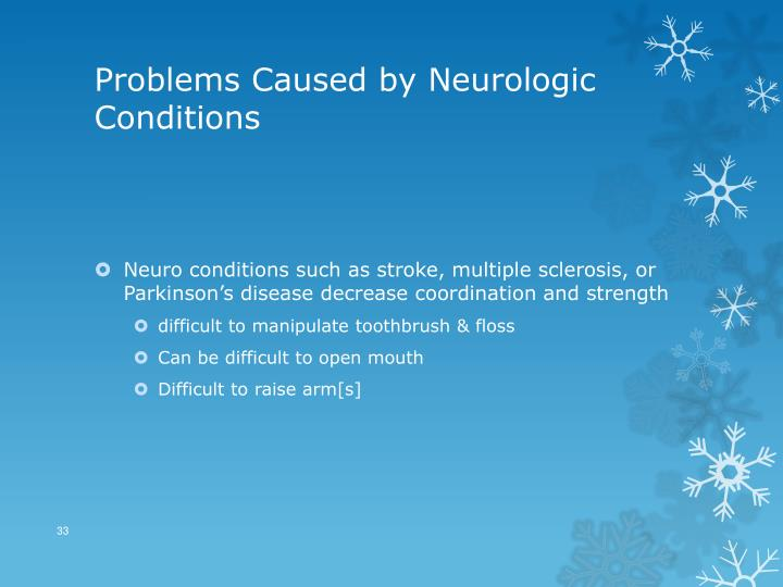 Problems Caused by Neurologic Conditions