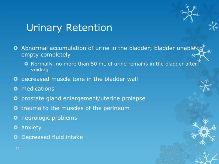 Urinary Retention