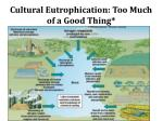 cultural eutrophication too m uch of a good thing