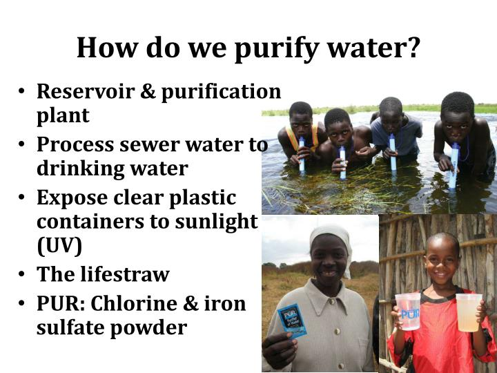 How do we purify water?