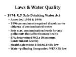 laws water quality