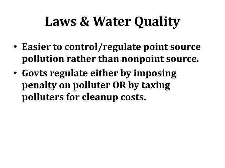Laws & Water Quality