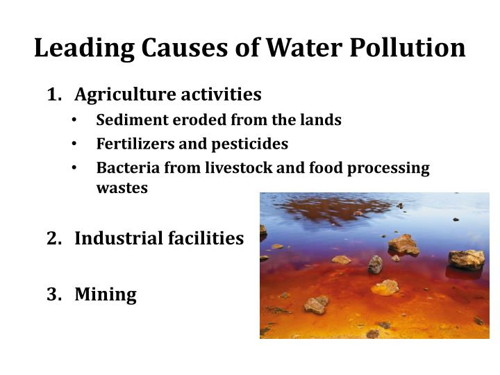 Leading Causes of Water Pollution
