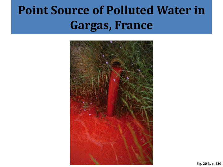 Point Source of Polluted Water in