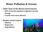 water pollution oceans