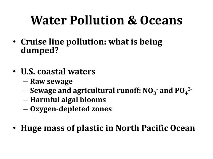 Water Pollution & Oceans