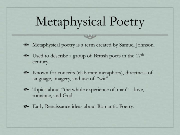 Metaphysical poetry1