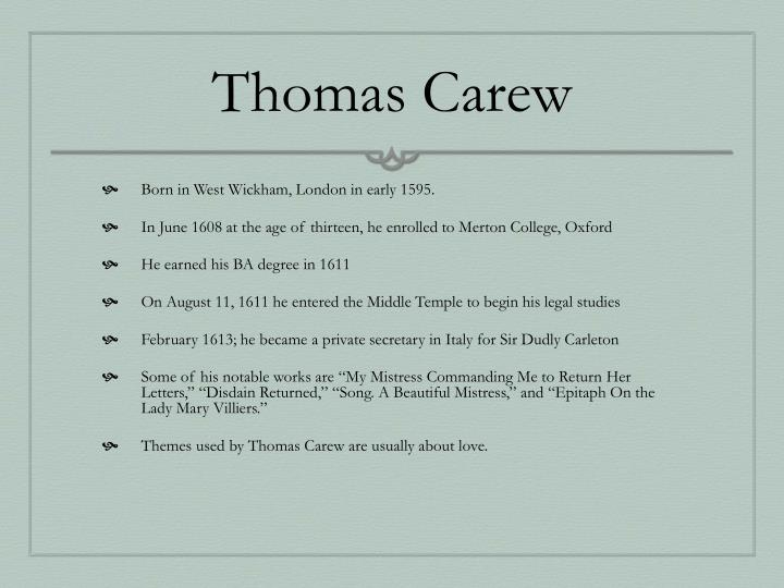 Thomas Carew
