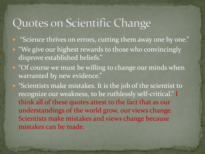 Quotes on Scientific Change