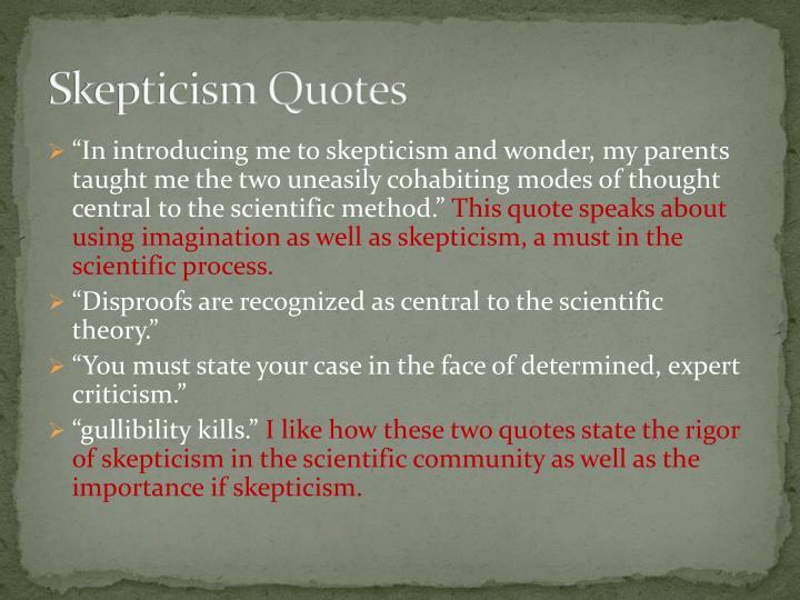 Skepticism Quotes