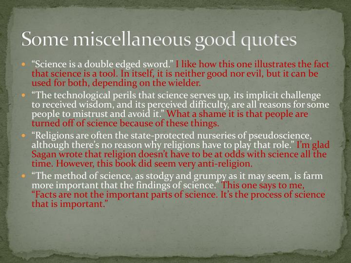Some miscellaneous good quotes