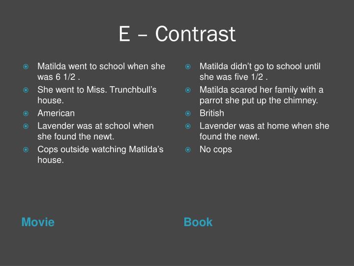 E – Contrast
