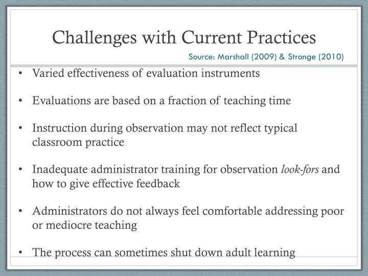 Challenges with Current Practices