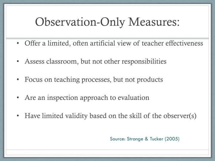 Observation-Only Measures: