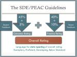 the sde peac guidelines1