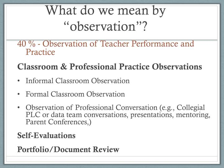 "What do we mean by ""observation""?"