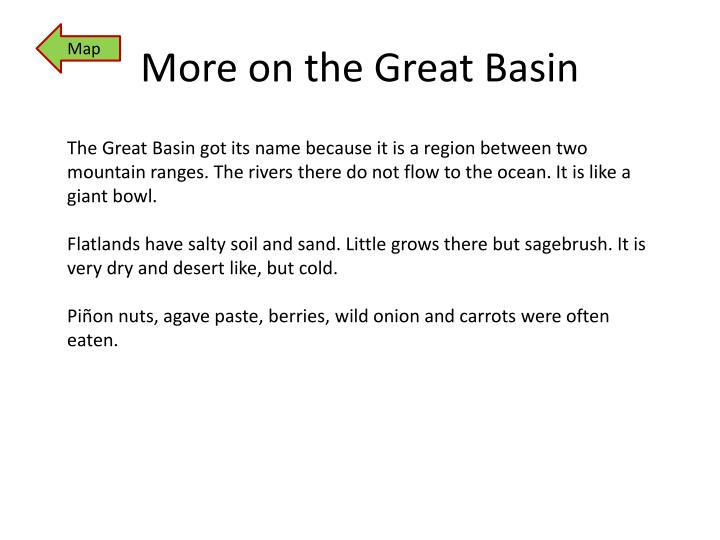 More on the Great Basin