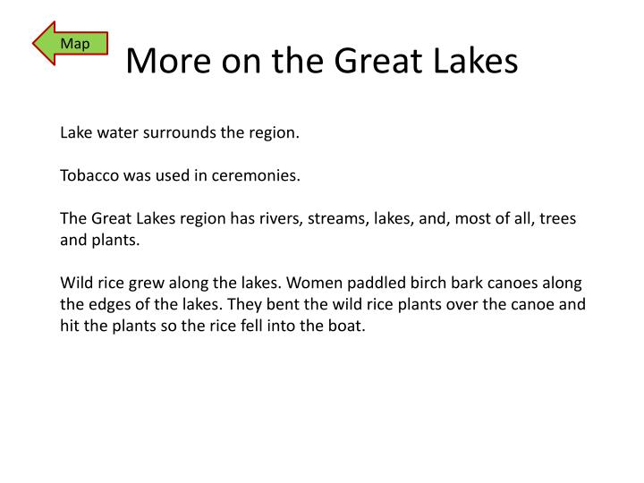 More on the Great Lakes