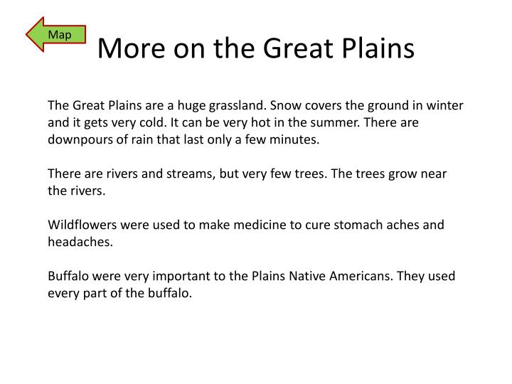 More on the Great Plains