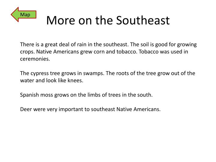 More on the Southeast