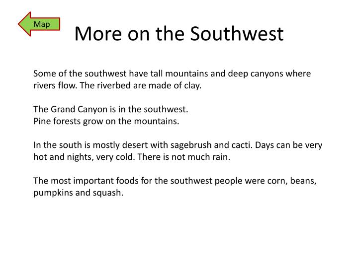 More on the Southwest