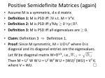 positive semidefinite matrices again