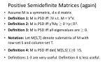 positive semidefinite matrices again1