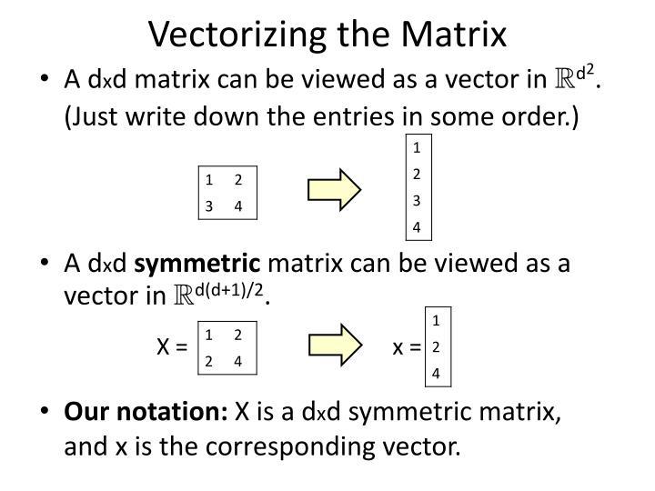 Vectorizing