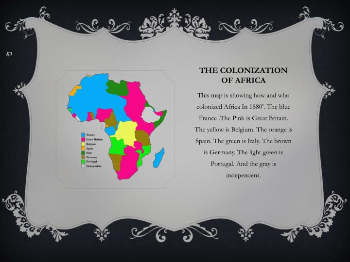 The colonization of Africa