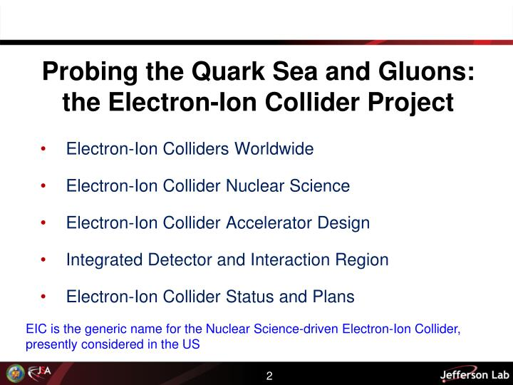 Probing the quark sea and gluons the electron ion collider project