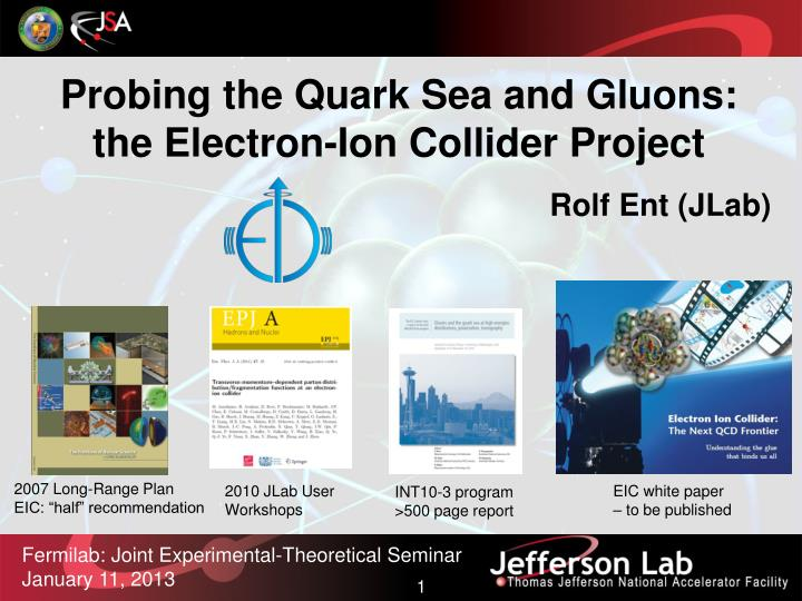 Probing the Quark Sea and Gluons: the Electron-Ion Collider Project