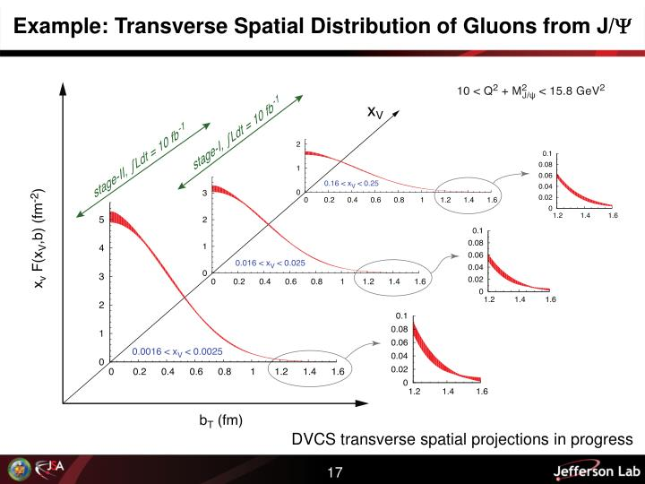 Example: Transverse Spatial Distribution of Gluons from J/