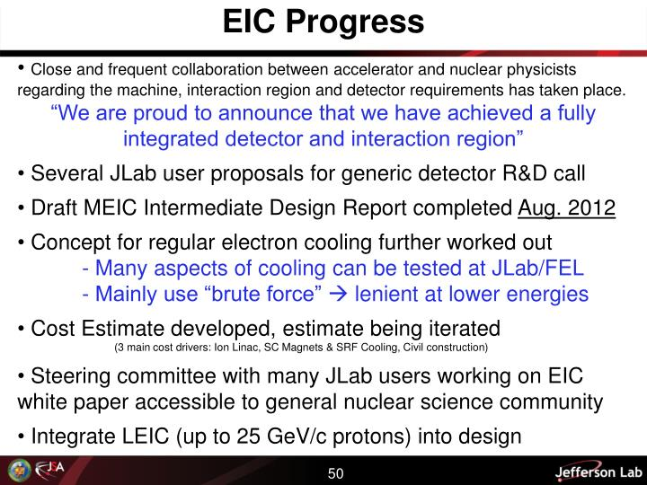 EIC Progress