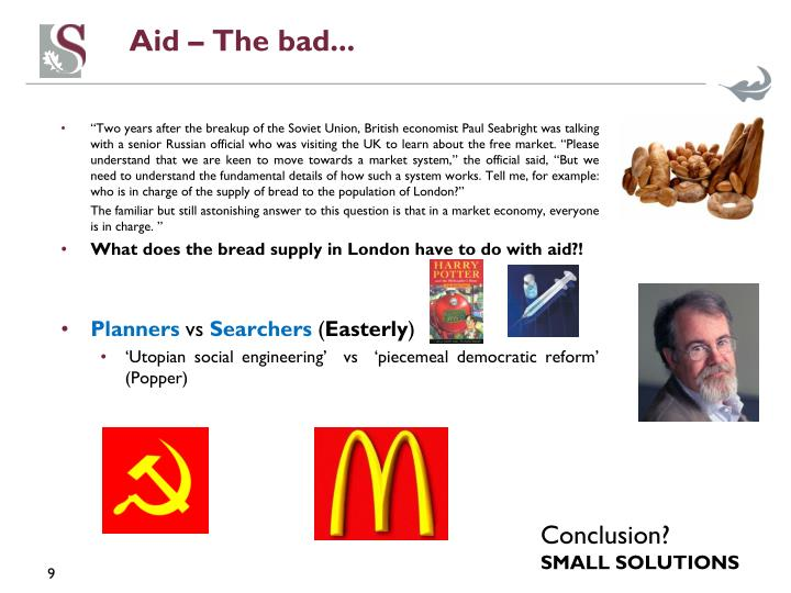 Aid – The bad...