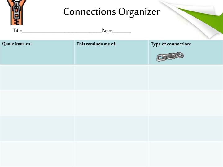 Connections Organizer