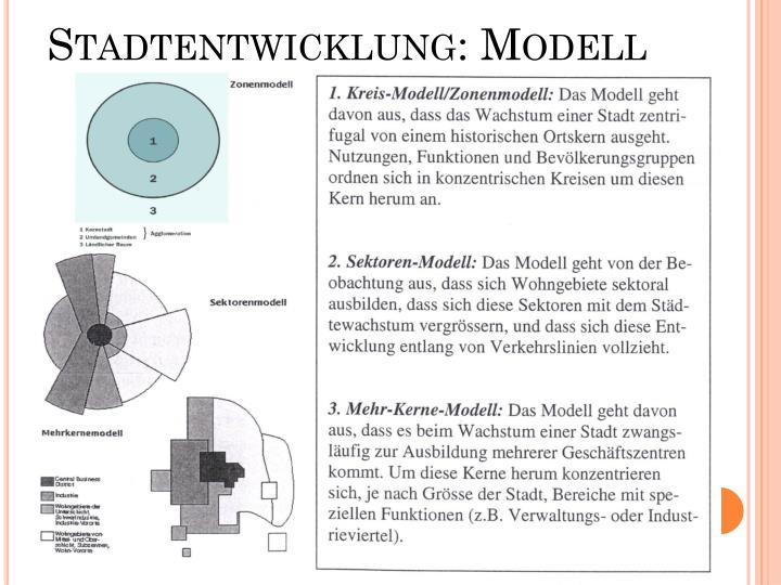 Stadtentwicklung: Modell