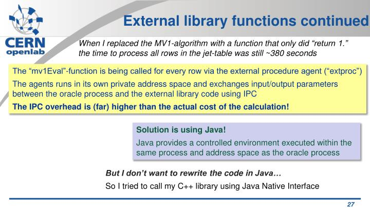External library functions continued