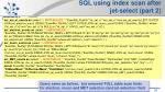 sql using index scan after jet select part 2