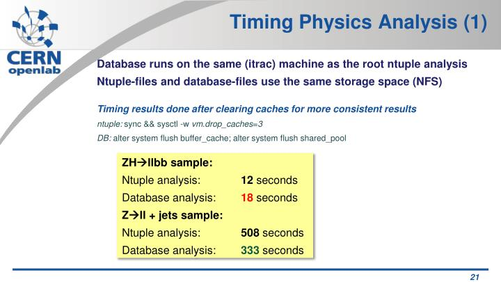 Timing Physics Analysis (1)