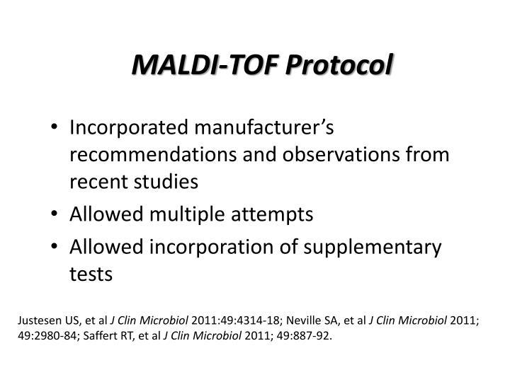 MALDI-TOF Protocol