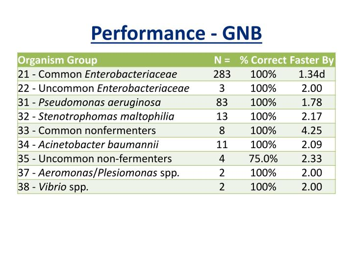 Performance - GNB