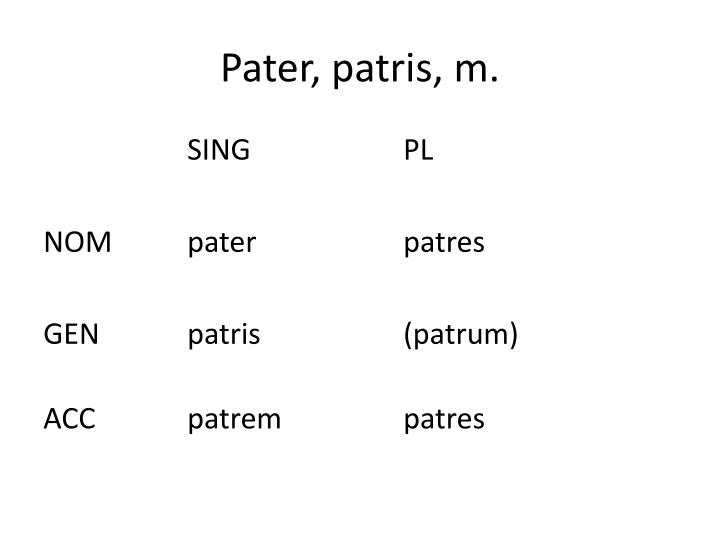 Pater,