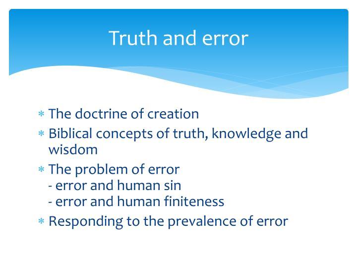 Truth and error
