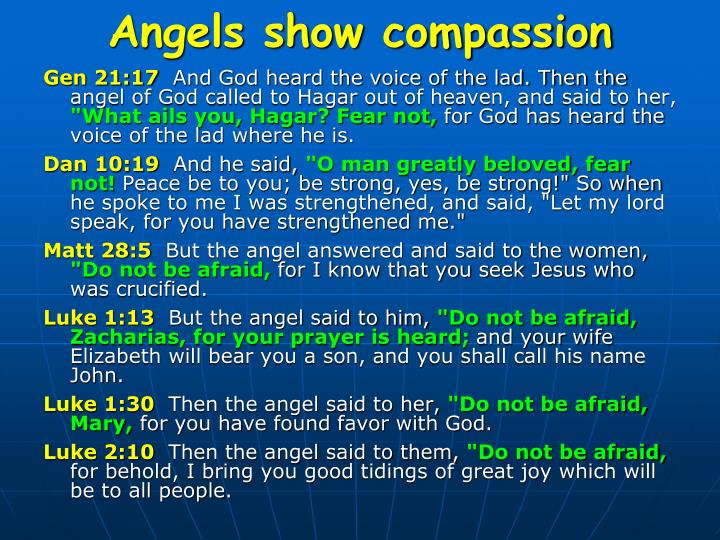 Angels show compassion